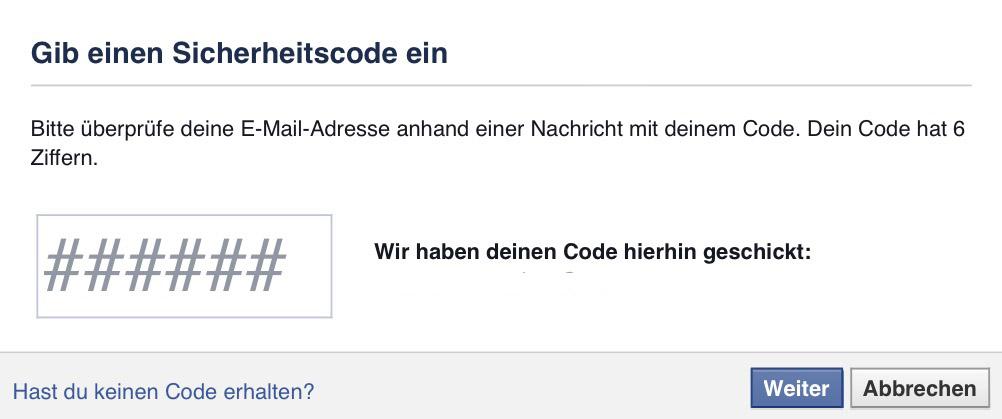 VI_Website_Fallbeispiele_Facebook_Sicherheitscode